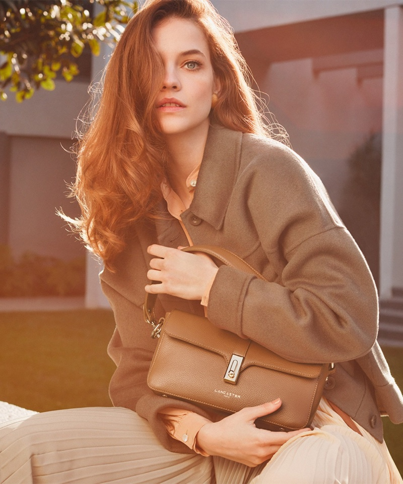 Lancaster features Baguette bag in fall-winter 2021 campaign.