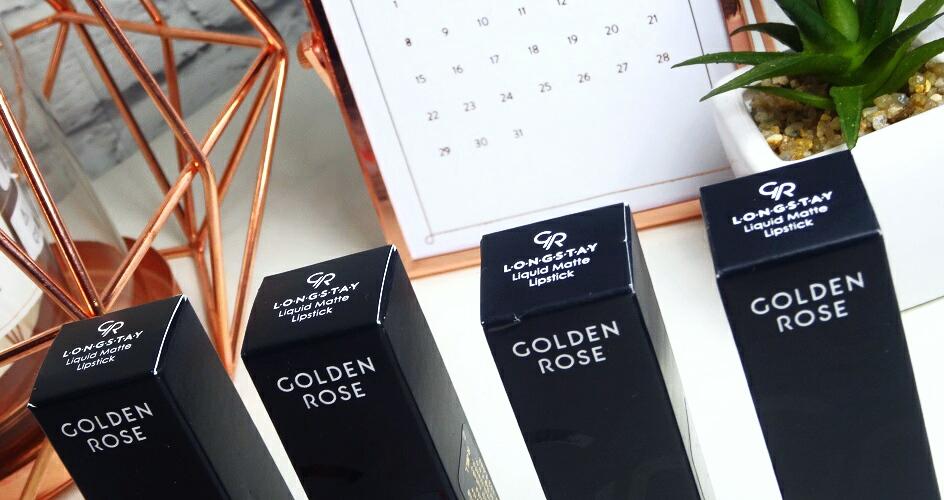 golden rose, matowa pomadka, longstay liquid matte lipstick, trwałe pomadki