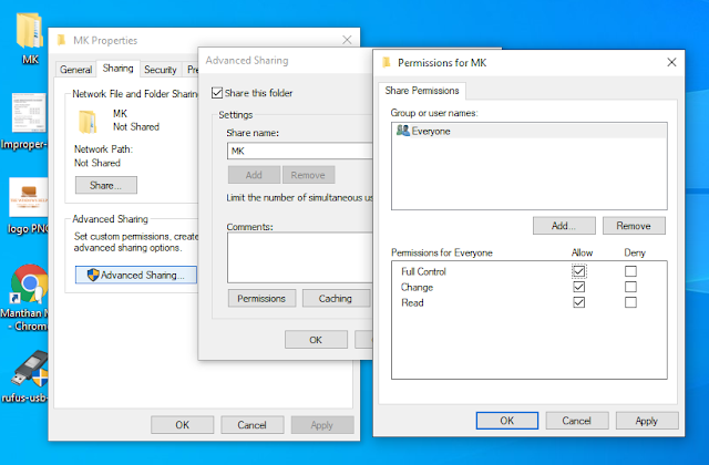 Give the Permission to Everyone in File, Folder or Drives