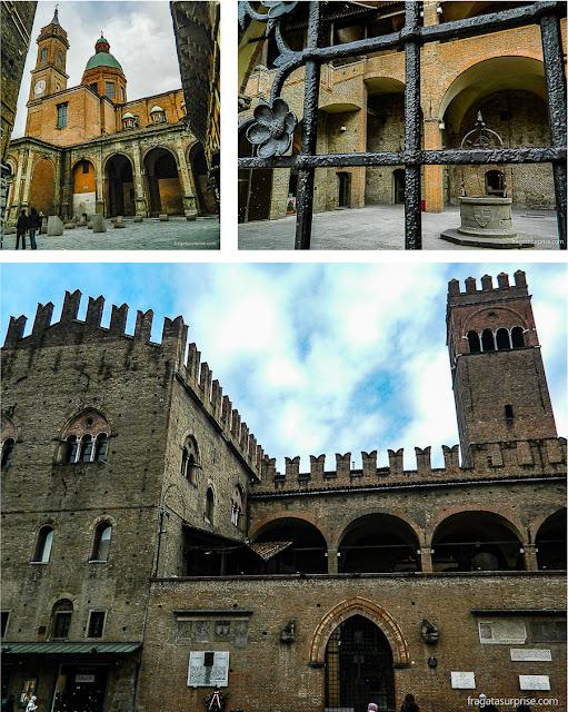 Bolonha: igreja renascentista de São Bartolomeu e São Caetano e Palazzo Re Enzo