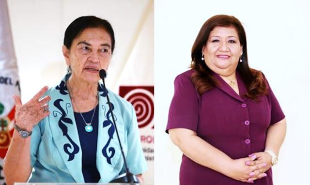 Científicas peruanas: Ruth Martha Shady Solis y Luz María Paucar Menacho