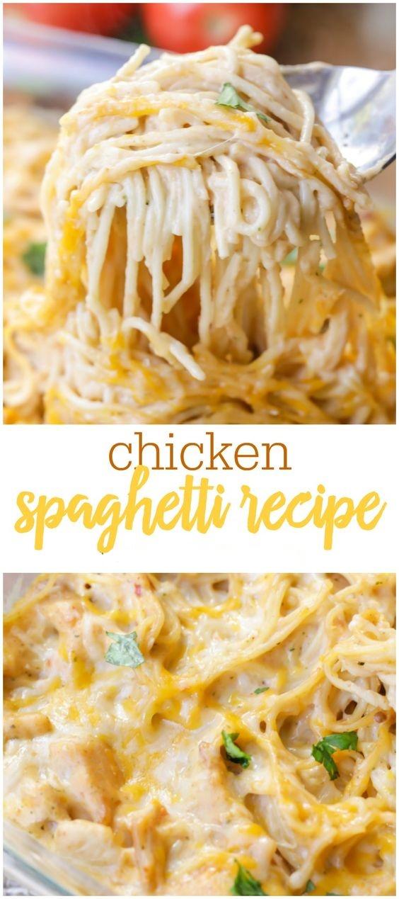 Family-Favorite Chicken Spaghetti Recipe