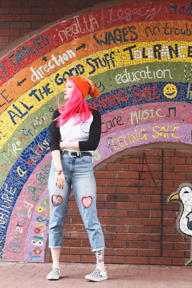 Alternative Fashion Blogger Foxxtailz Styles Keep Real Baseball Tshirt
