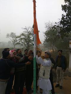 madhubani-mla-flag-hoist-in-Cremation