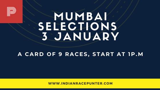 Mumbai Race Selections 3 January
