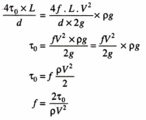 COEFFICIENT OF FRICTION IN TERMS OF SHEAR STRESS