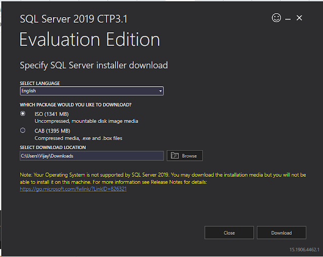 Download Microsoft Sql server 2019