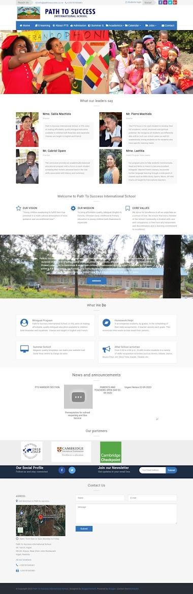 School Web Portal - Path to Success International School