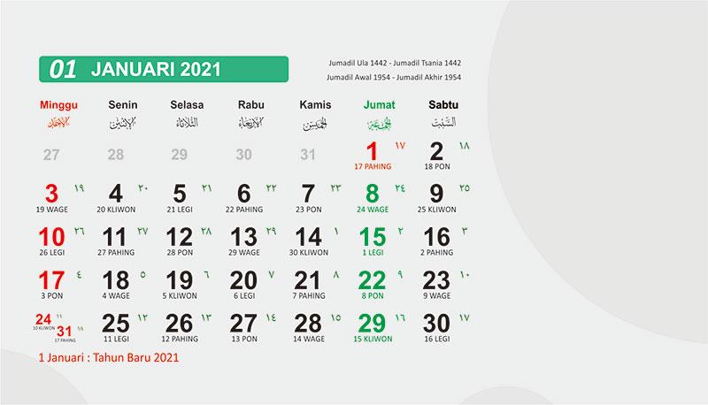 Kalender baru 2021 bisa di download gratis
