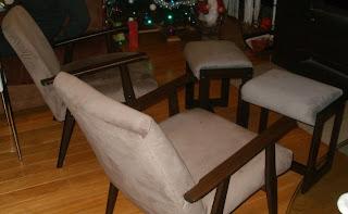 podnóżek do fotelu prl