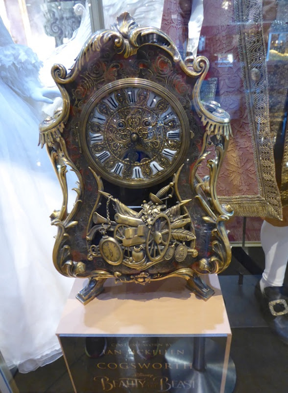 Beauty and Beast Cogsworth clock film prop