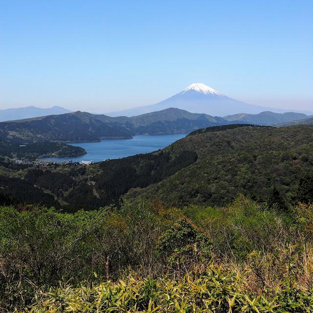 大観山からの富士山と芦ノ湖