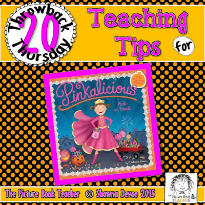 Pinkalicious Pink or Treat by Victoria Kann TBT - Teaching Tips.