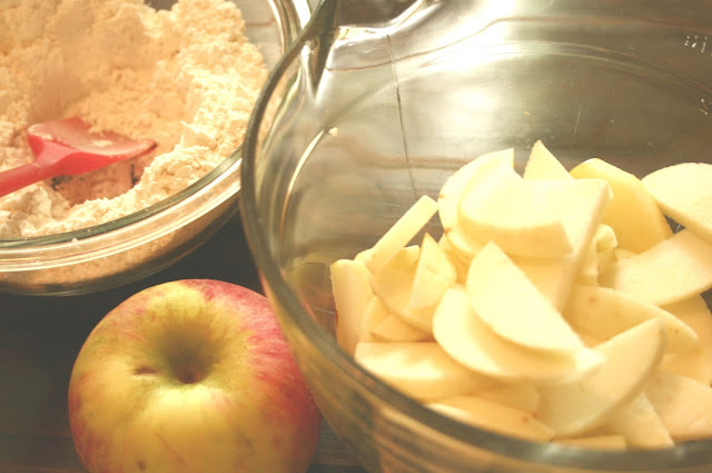 Slicing Apples for a Homemade Pie