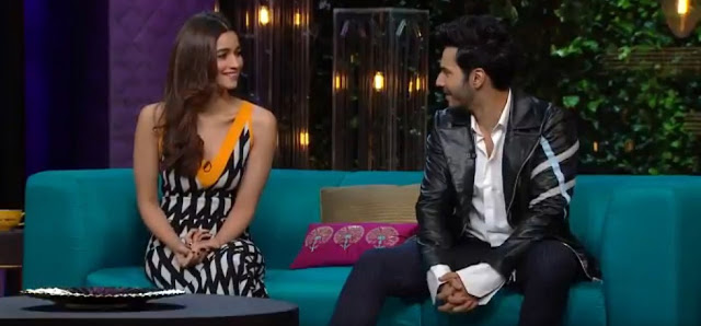 Koffee With Karan- Karan Johar ,Varun Dhawan And Alia Bhatt