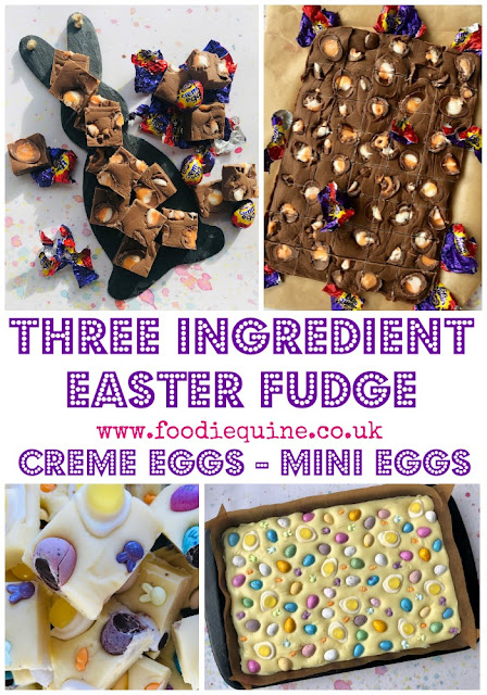With only two ingredients, no tricky temperatures or boiling hot sugar required, this microwave Easter Fudge is quick and easy to make. Once you've mastered it you can adapt the toppings to suit the occasion and personal preference. You can make it with white, milk or dark chocolate and use your favourite Easter treats as toppings whether that be mini or creme eggs.