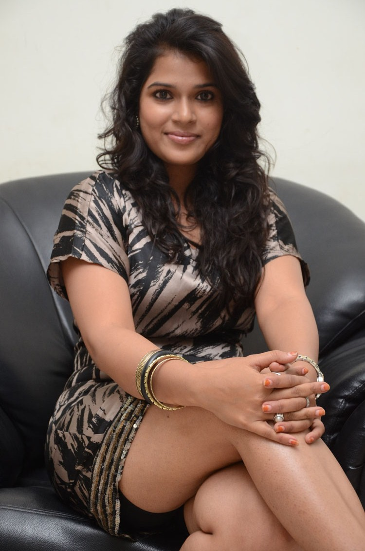 Looking sexy & spicy Bhargavi latest photo shoot in short dress