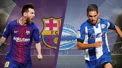 مشاهدة مباراة برشلونة والافيس بث مباشر اليوم