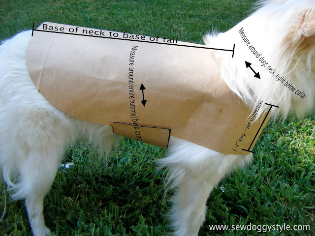 Sew doggystyle diy pet coat pattern for Dog coat template