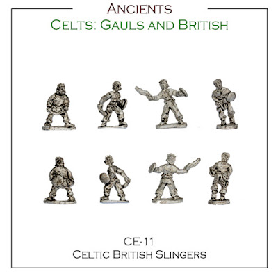 CE-11 Celtic / British Slingers - Singles - (32 Singles figures + 4 bases)