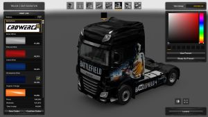 Battlefiel 4 Girl Skin for DAF XF