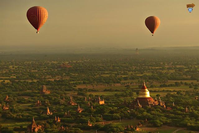Ballon over Bagan - Vuelo en globo en Bagan