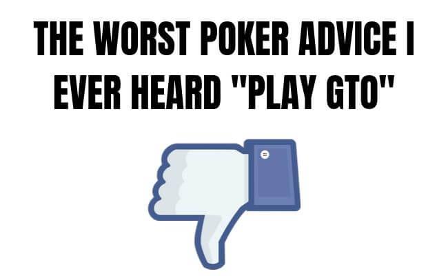 GTO poker strategy