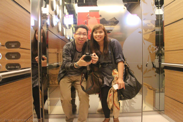 Renz Cheng and Roan Silverio in Hysan Place, Hong Kong