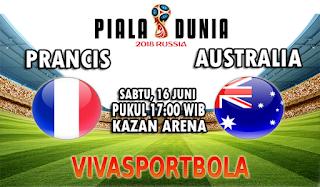 Prediksi Bola Prancis vs Australia 16 Juni 2018