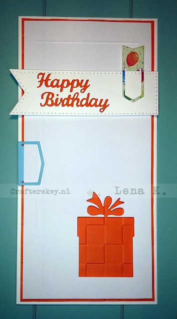 Masculine Birthday Card - Papermania Tri-Boss Embossing Folder Chequered (Pma 515302) DIE-NAMICS LLD HIP CLIPS by My Favorite Things Creative Expressions Craft Dies By Sue Wilson Pierced Flags (Ced4304) Tattered Lace Dies Acd105 Parcels 717 Elizabeth Craft Designs - Happy Birthday