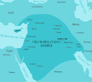 Map of the Neo-Babylonian Empire