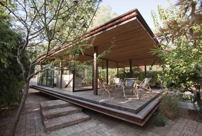 modern t shaped house design represents a minimalist. Black Bedroom Furniture Sets. Home Design Ideas