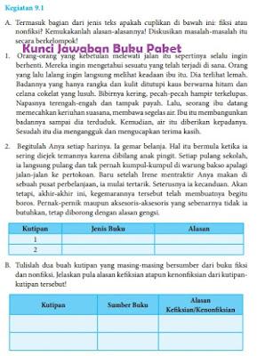 Kunci Jawaban Buku Paket Bahasa Indonesia Halaman 235 Kelas 8 Kegiatan 9.1 Bab 9 kurikulum 2013