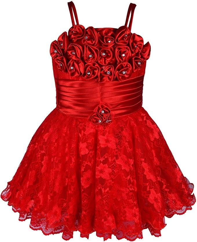 Wish Karo Baby Girls Frock Dress (red/Pink -net)