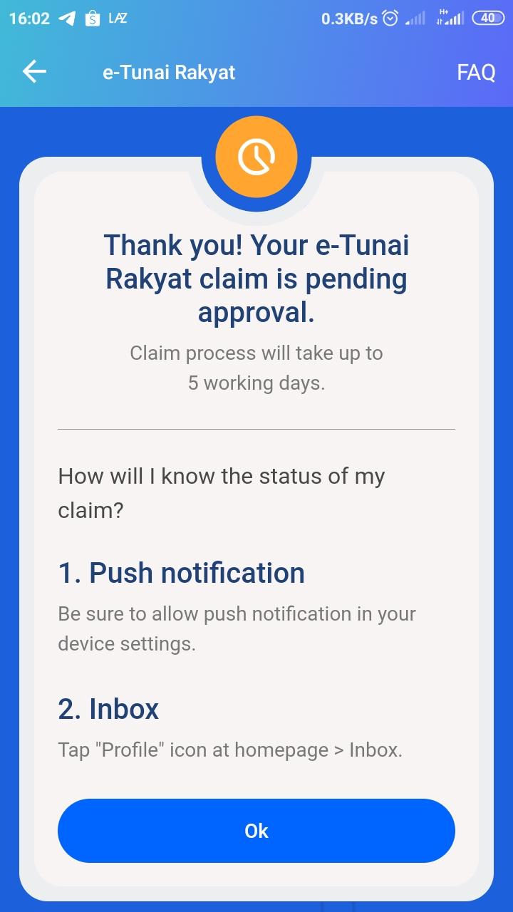 Claim RM30 e-Wallet