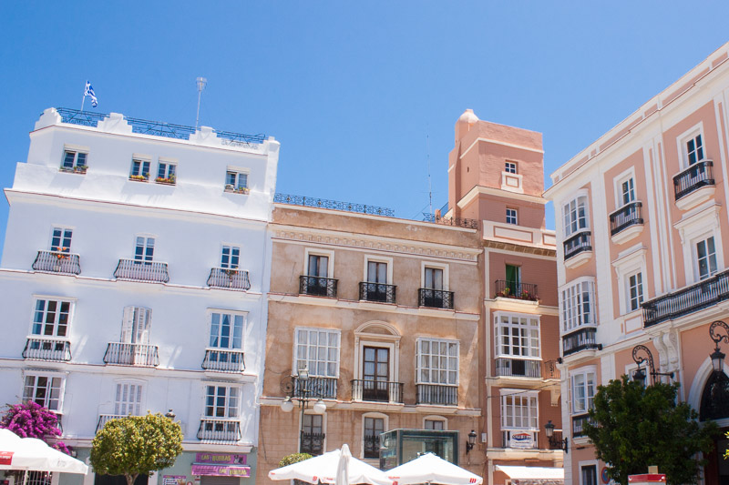 Platz in Cádiz