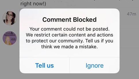 Cara Mengatasi Komentar Instagram yang Diblokir