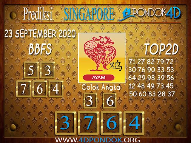 Prediksi Togel SINGAPORE PONDOK4D 23 SEPTEMBER 2020
