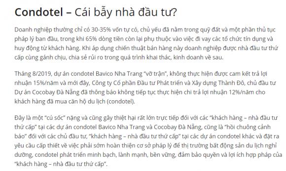 Câu chuyện Condotel lừa dối khách hàng để trở thành đại gia BĐS Việt?
