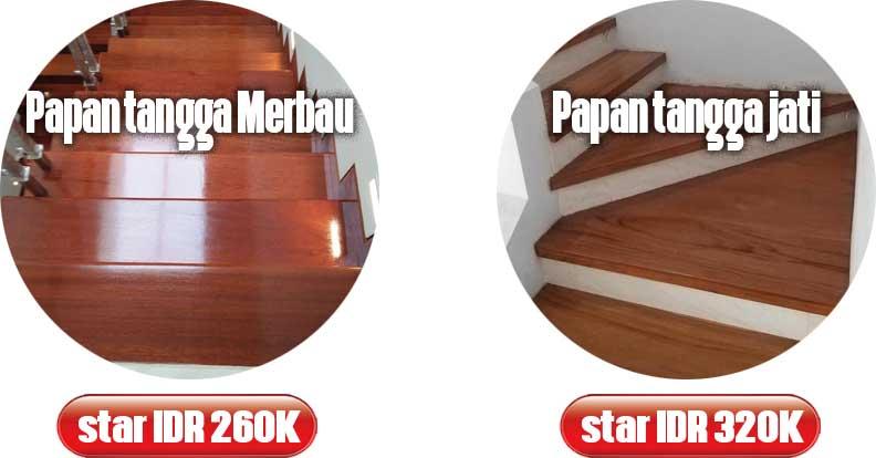 harga lantai kayu tangga