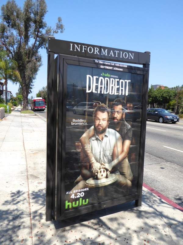 Deadbeat season 3 Ghost movie homage poster ad