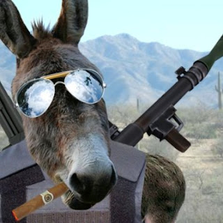 The AK 47 costs $ 130 at a donkey fair in Pakistan.
