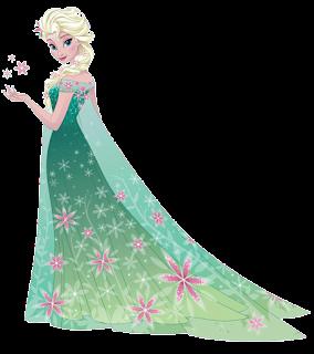 Elsa de frozen fever para imprimir