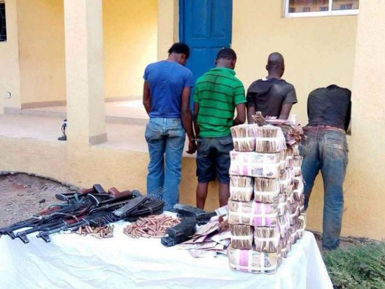 See the Huge Cash Recovered from Armed Robbers in Benin (Photos)