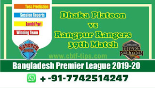 cricket prediction 100 win tips Rangpur vs Dhaka