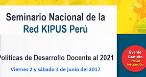 Red Quipus Perú convoca a Seminario «Políticas de Desarrollo Docente al 2021» (2 y 3 Junio)