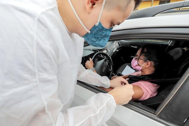 Prefeitura de Porto Velho fará novo drive-thru de vacinação no próximo sábado (26)
