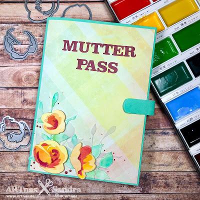 Mutterpasshülle mit Designpapier und Altenew Rosen