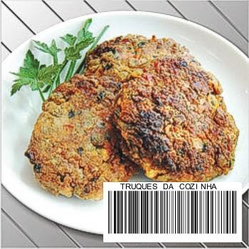 hambúrguer de lentilha com farinha de trigo