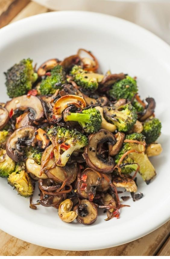 Broccoli and Mushroom Stir-Fry